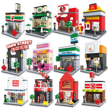 6401-6408 /6412-6415 Retail Store Building Block Street Scene Architecture Toys Supermarket Apple Kentucky McDonald's(China)