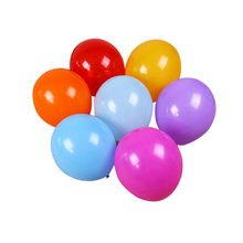 100pcs 12 Inch Assorted Bright Color Latex Balloons pearl latex balloons a brightly colored Christmas decoration(China)