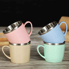 Korean version of the simple creative cup, personalized stainless steel coffee cup, personal office girls children's coffee cup(China)