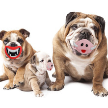 Pet Dog Red Lips Devil Monster Chew Toys Pink Ivory Pig Squeak Toy Funny ScoundToy Safe No-Toxic Rubber Toy