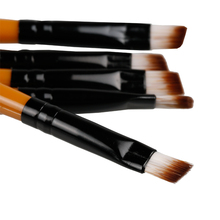 1 Pcs Pro Good Quality Elite Angled Eyebrow Brush Eye Brow Tool Color Black Or Brown Handle Random Delivery(China)
