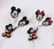Hot Sale 3.5mm In-Ear Wired Earphone Cartoon Mickey Mouse Silicone For MP3 MP4 Player PSP 50pcs