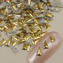 Fingernail decorations metal fluorescent studs rivets Japanese nail color
