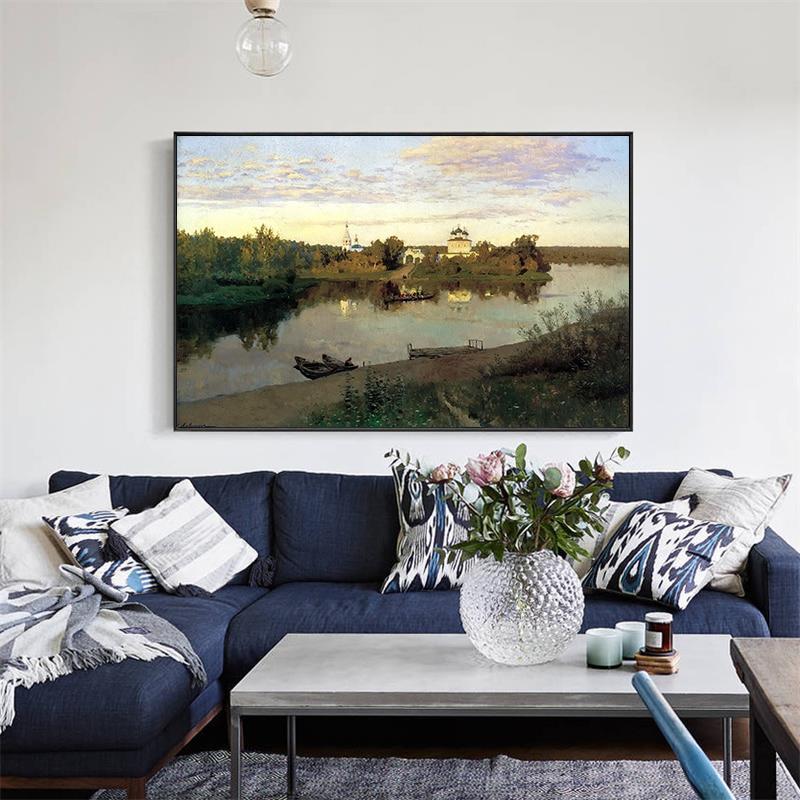 Isaac Levitan Canvas Wall Art 6 Spring  High Waters