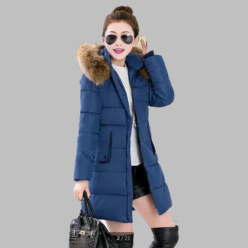 2015 New Winter Jacket Womans Outerwear Slim Hooded Down Jacket Female Fur Collar Thickening Warm Jacket Coat ZL0752Одежда и ак�е��уары<br><br><br>Aliexpress