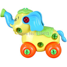Animal elephant mammoth disassembling combination and educational toys nut assembled toy animals(China)