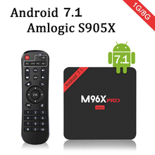 M96X pro mini 5pcs/10pcs android 7.1 s905x 4K TV BOX 1G 8G TVMC media center Quad Core 3D DLNA Wifi LAN VP9 1080P m96x pro