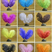 10pcs/lot Natural Ostrich Feather 30-35 cm Colorful Feather Decoration Wedding DIY Feathers Party Plumage Decorative Celebration