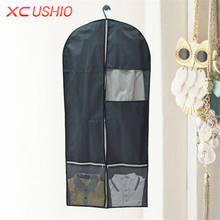 Clothing Dust Cover Multiple Pocket Suit Cover Washable Long Coat Dust Bag Cloth Dustproof Cover Dustproof Protector Storage Bag