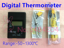 1X 902C Handheld Thermometer Single K Type Thermocouple -50~1300C Degree Small Size with 2 Probes Resolution 0.1 C(China)