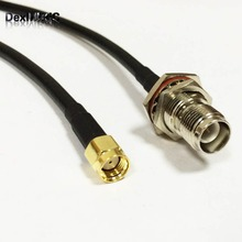 "RF coaxial cable RG58 RP- SMA Male Plug To  RP-TNC Female Jack pigtail Adapter 50CM 20"" for WIFI"