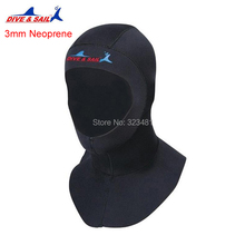 DIVE SAIL 3mm Neoprene Scuba Snorkeling Diving Hoods Cap Hat Head Cover Bibbed long to Shoulder Diver Wetsuit Hoodies Men Women(China)