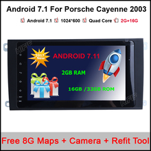 Pure Android 7.11Car Radio for Porsche Cayenne 2003 2004 2005 2006 2007 2008 2009 2010 With Quad Core Bluetooth GPS Radio RDS 3G