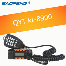 qyt kt-8900 kt8900 vhf uhf mobile radio transceiver kt8900 mini car bus army mobile vhf two way radio station+usb cd(China)