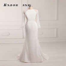 Fashion Exquisite Bateall Neck Court Hem Evening Dresses Lace Chiffon Gown 2016 New Arrival