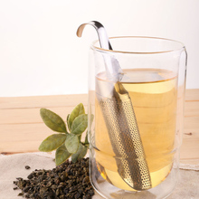 Tea Strainer Stick Stainless Steel Pipe Design Mesh Tea Filter Coffee Teapot Tools Portable Tea Infuser MS428
