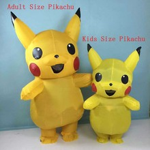 Adults Kids Inflatable Pikachu Costume Pokemon Cosplay Halloween Costume Outfit Cosplay Costume For Adult And Kids