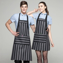 Korean cafe tea shop Aprons overalls antifouling fashion creative kitchen cooking staff waiter apron