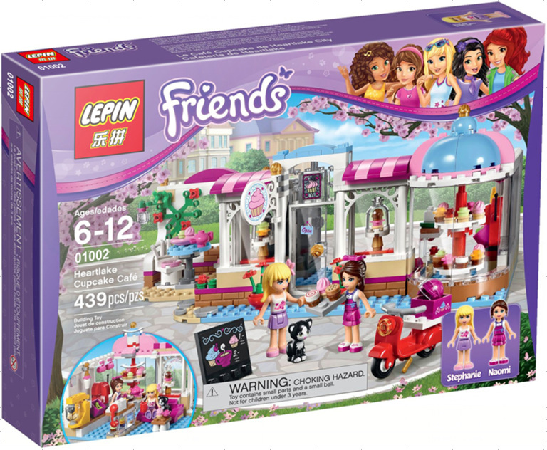 LEPIN 01002 Friends Series Cupcake Bakery Patisserie Takeaway Building Block Figures Toys For Gift<br>