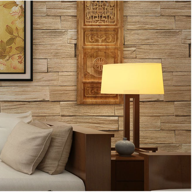 Chinese style imitation wood paper wood wood flooring wallpaper Chinese Restaurant restaurant bar background wallpaper<br>