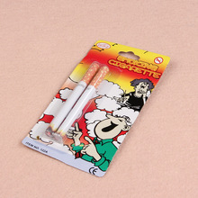 Joke Prank Magic Novelty Trick 2 pcs Fake Cigarettes Fags Smoke Effect Lit End Fancy Gift For Sale Funny Toy Practical Jokes
