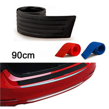 90 x 8 cm Universal Black Red Blue Rubber Door Sill Guard for Car Pickup SUV Truck trim car Rear Strip