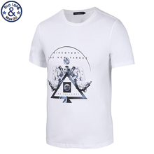 "Mr.BaoLong Brand new fashion cotton men's t-shirt ""discovery the new target ""letter printed t shirt white color youth men CT13"