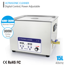 Ultrasonic Cleaner 15L 144W-360W 40kHz Baskets Jewelry Watches Dental Lavatrice Industry Heated Ultrasonic Cleaner Bath
