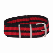 Buy 2 Get 20% OFF) Wholesale 24 mm Multi Color Black Red Army nato fabric Nylon watchband Strap Bands Buckle belt 24mm for Watch