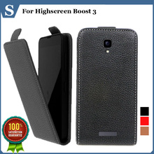 Factory price , Top quality new style flip PU leather case open up and down for Highscreen Boost 3, gift