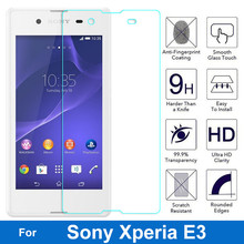 For Sony Xperia E3 E 3 Tempered Glass Screen Protector 0.26MM 9H Safety Protective Film On D2202 D2203 D2206 D2212 D2243 Dual