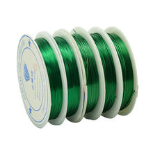 Copper Wire Green Color 0.3/0.4/0.5/0.6//0.8mm 30/15/10/6.5/3.5 meters long  line DIY jade line wholesale