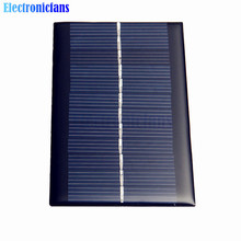 Free Shipping Mini 6V 1W Solar Panel Bank Solar Power Panel Module DIY Power For Light Battery Cell Phone Toy Chargers Portable