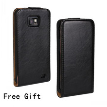 Crazy Horse Leather Case Flip Cover For Samsung Galaxy S2 I9100 S II Plus I9105 + Free Screen Film