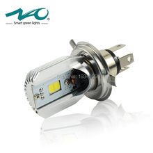 NAO H4 Motorcycle Led Headlight DC 6V~80V 6W 800LM COB Light HS1 Bulb 6500K 3000K 9003 Moped Scooter Motorbike Head lamp #M2S