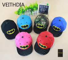 VEITHDIA 2017 children baseball cap fashion spring summer sun hat outdoor bats sport hip hop hat boy girl hat 298