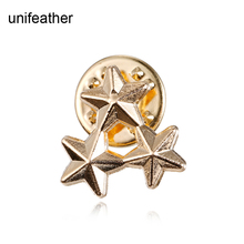 European Fashion Classic Gold Five Pointed Star Brooch Pins Corsage Scarf Clip Suit Collars Brooches For Women Jewelry Gift 3903