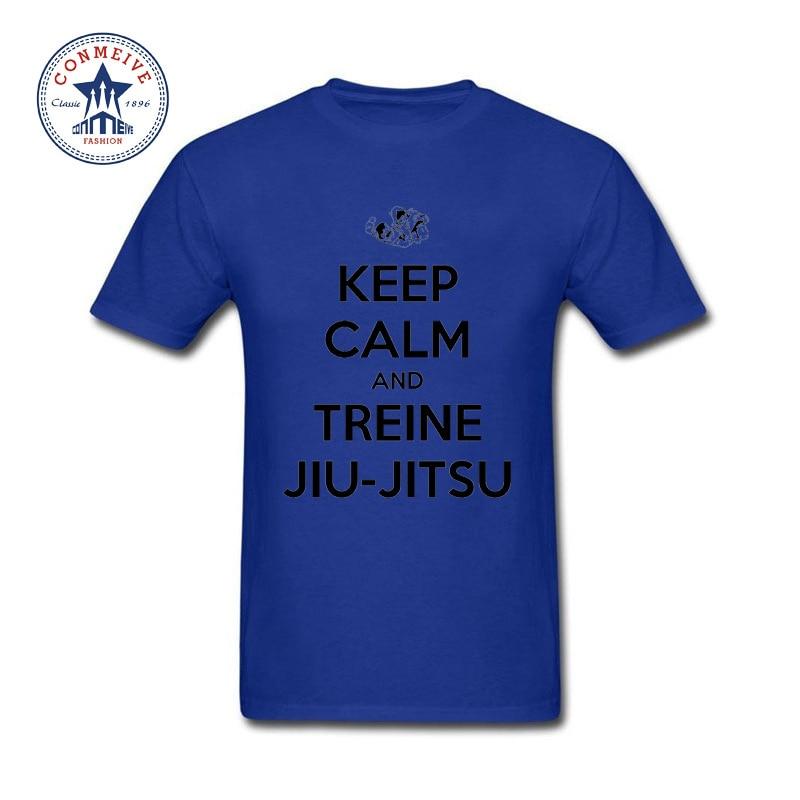 2017 Hot Selling Funny KEEP CALM AND TREINE JIU-JITSU Cotton ...