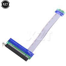 High Quality PCI Express Flexible Riser Card Adapter Converter Extend Cables 20cm PCI-E Riser 1X to 16X Extension Cable(China)