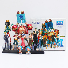 10pcs/lot Anime One Piece Figure Toy Luffy Chopper Nami Robin Sanji Zoro Brook Franky 2 Years Later Cool Model Doll for Kids