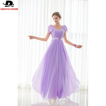 Ready to shop 2017 Cheap Light Purple Bridesmaid Dresses Sashes V-neck Bridesmaid Dress Real Photo 2017 A-Line dress US4-US16