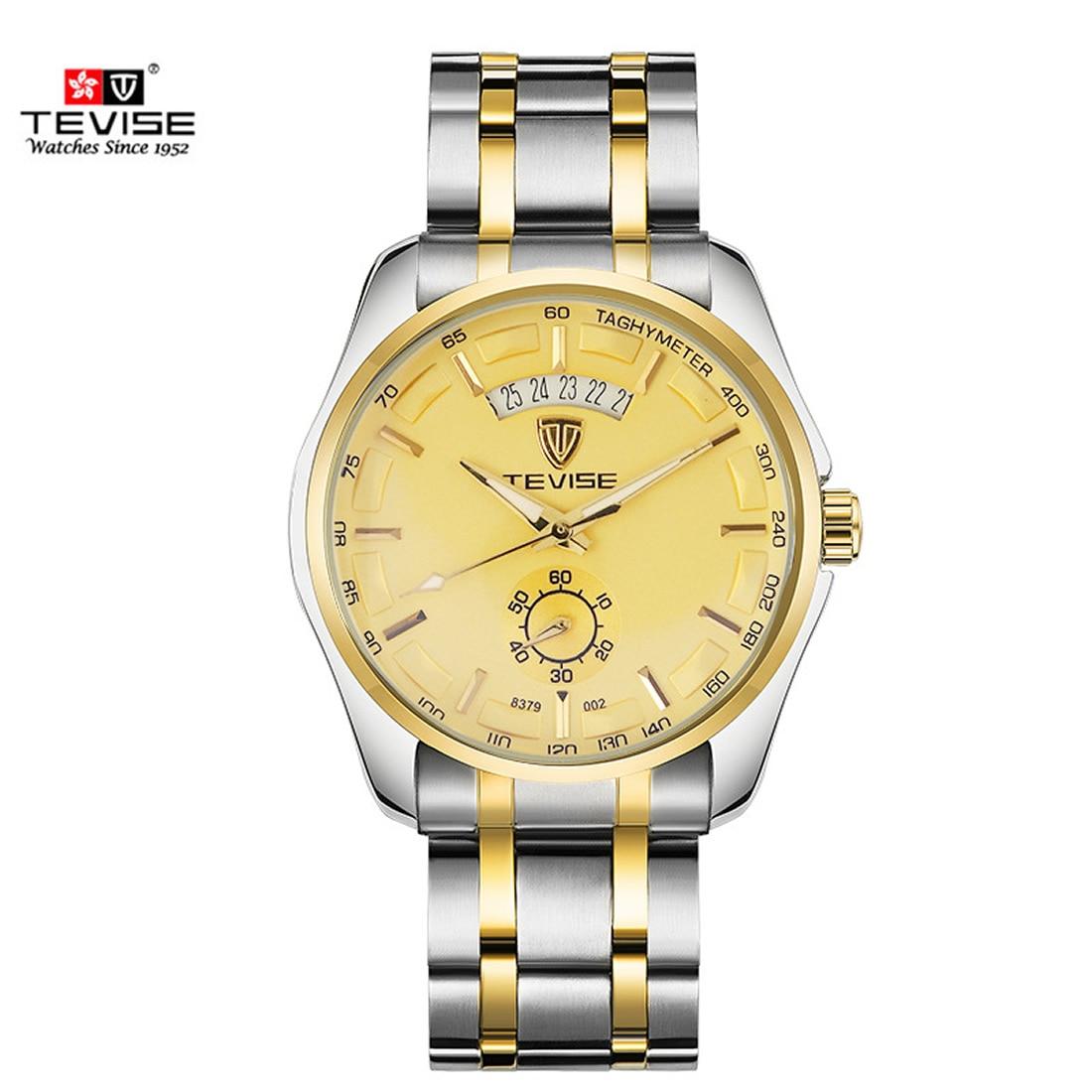Stem winder men relogio masculino Top Brand Luxury quartz wristwatch male Business Stainless Steel Watch large big dial watch  <br>