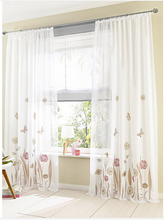 New garden tulle curtains for living room, buttlerfly sheer blind window screening curtainbuttl