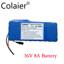 Colaier 36V 8AH bike electric car battery scooter high-capacity lithium battery +42V 2A Charger