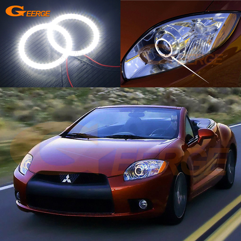 For Mitsubishi eclipse 2009 2010 2011 XENON HEADLIGHT Excellent Angel Eyes Ultra bright illumination smd led Angel Eyes kit<br>