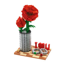 920pcs Rose Models & Building Toy Girls Assembly Diamond Nanoblock Creative DIY Decoration Birthday / Christmas Gifts