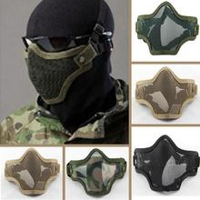 Hot Sale Simulation Games Airsoft War Game Half Face Guard Steel Mesh Mask Anti-Crash Protector Protective Mask