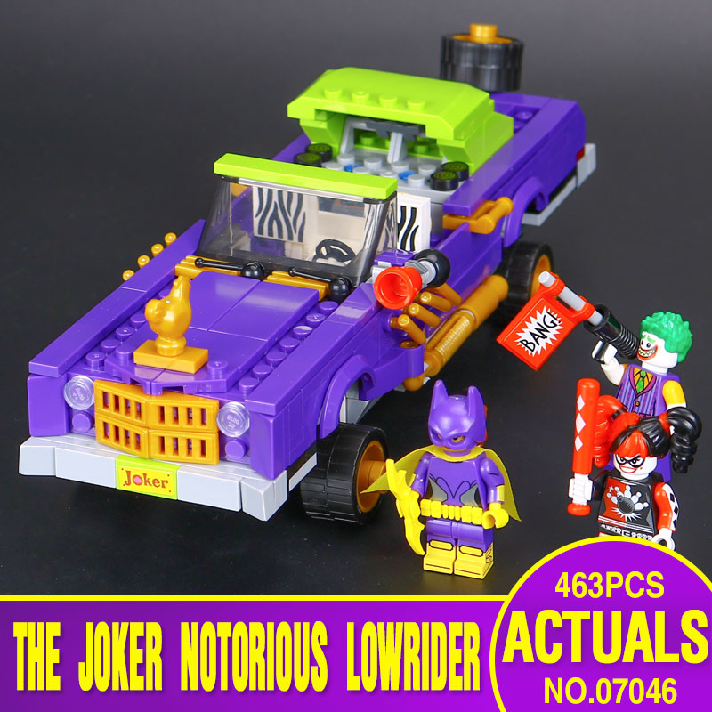 New Lepin 07046 433Pcs Genuine Batman Movie Series The Joker`s Lowrider Set Building Blocks Bricks Educational Toys 70906<br><br>Aliexpress