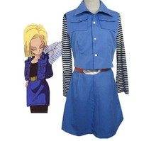 Dragon Ball Z Android 18 Lazuli Cosplay Costume Anime Custom Made Uniform
