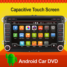Quad 4 Core 7inch 2 din Multimedial Car DVD Player GPS Navigation For VW GOLF 6 new polo New Bora JETTA B6 PASSAT SKODA GPS Map